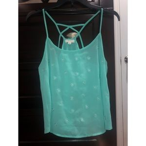 Turquoise Sheer Top